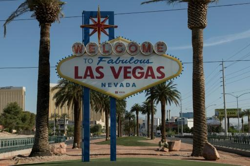 """The """"Welcome to Las Vegas"""" sign is popular with tourists, but the city hasn't seen much traffic since casinos closed down two months ago"""