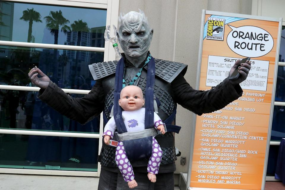 <p>Cosplayer dressed as the Night King from <em>Game of Thrones</em> at Comic-Con International on July 20 in San Diego. (Photo: Angela Kim/Yahoo Entertainment) </p>