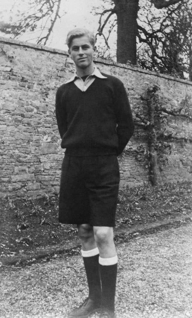 The duke as a schoolboy