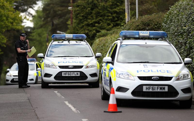 Police close to Guy Hedger's home - Credit: Andrew Matthews/PA