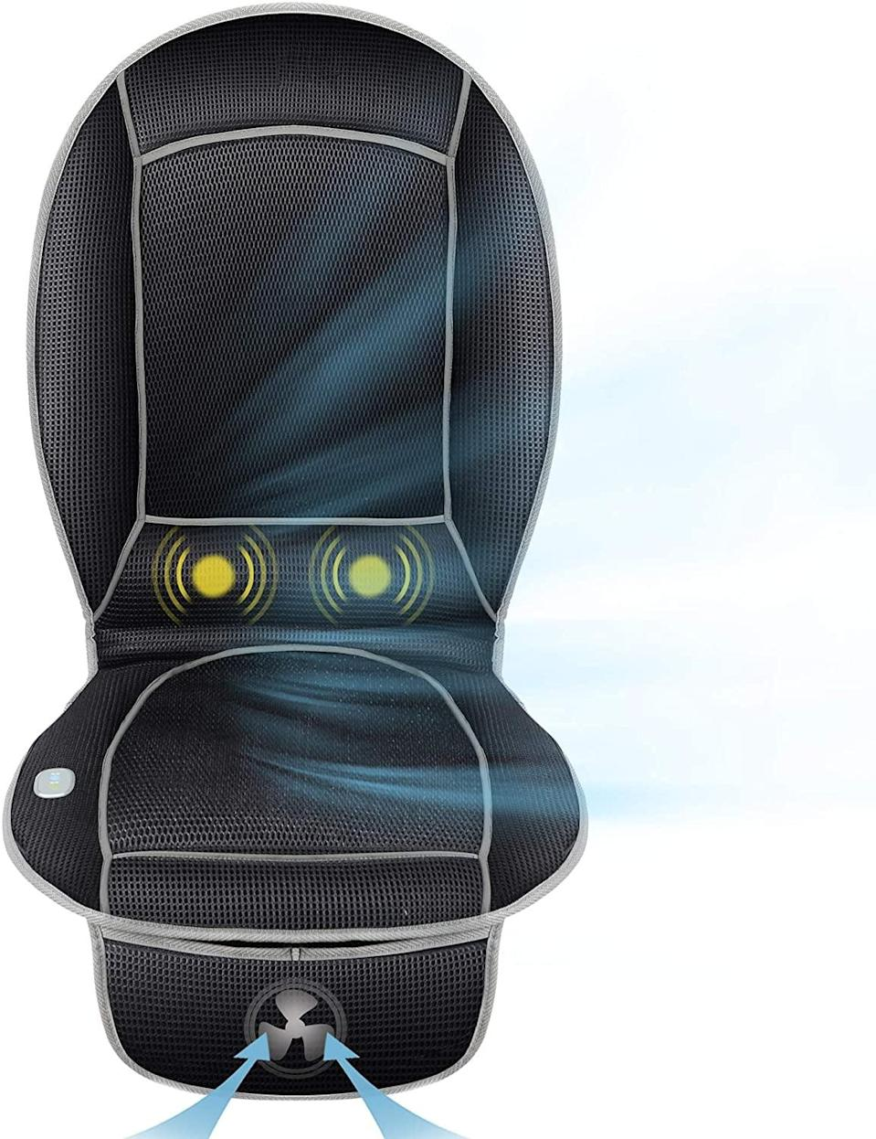 <p>This remote-controlled <span>Cooling Car Seat Cushion</span> ($40) will keep you nice and cold.</p>