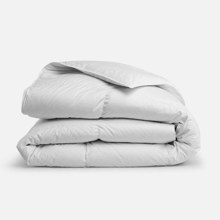 """<p><strong>Brooklinen</strong></p><p>brooklinen.com</p><p><strong>$126.65</strong></p><p><a href=""""https://go.redirectingat.com?id=74968X1596630&url=https%3A%2F%2Fwww.brooklinen.com%2Fproducts%2Fdown-comforter&sref=https%3A%2F%2Fwww.bestproducts.com%2Fhome%2Fg34362290%2Fbrooklinen-amazon-prime-day-sale-2020%2F"""" rel=""""nofollow noopener"""" target=""""_blank"""" data-ylk=""""slk:Shop Now"""" class=""""link rapid-noclick-resp"""">Shop Now</a></p><p>Made with a hypoallergenic, down cluster fill, Brooklinen's comfort will make you feel like you're sleeping on cloud nine. Best of all? This option has three different weights—lightweight, all-season, and ultra-warm—so you can buy the perfect option for your sleep style.</p>"""