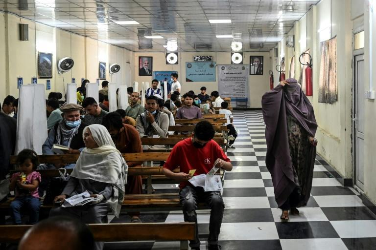 With the Taliban making huge advances in the countryside as foreign forces wind up their withdrawal, many Afghans -- those with the means, at least -- are looking for a way out