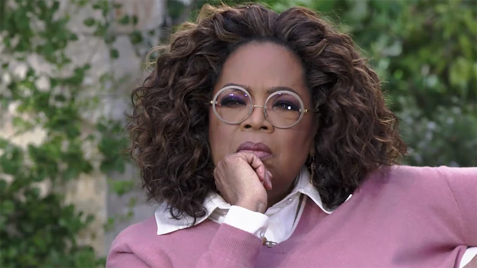 oprah Winfrey in Meghan and Harry tell-all