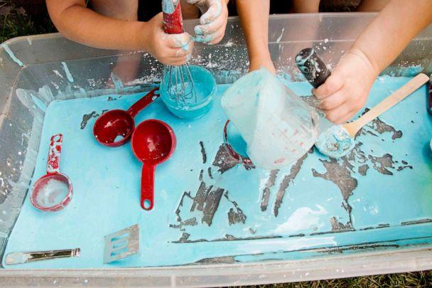 PHOTO: Oobleck is a non-Newtonian substance that is safe-taste and stain-safe for kids of all ages. (Courtesy of Susie Allison/BusyToddler)