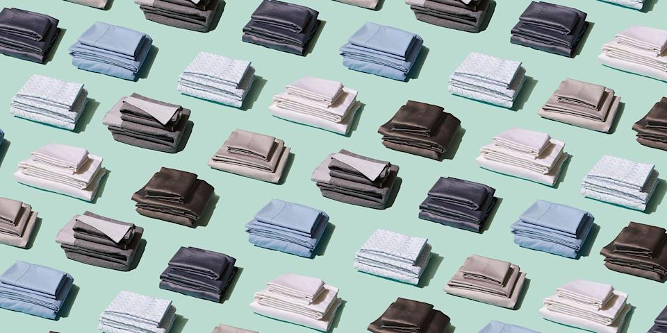 """<p>Quality sheets are the key to <a href=""""https://www.goodhousekeeping.com/health/wellness/g22654630/best-sleep-inducing-products/"""" rel=""""nofollow noopener"""" target=""""_blank"""" data-ylk=""""slk:a good night's sleep"""" class=""""link rapid-noclick-resp"""">a good night's sleep</a>. After all, it's impossible to get comfortable if you're wrapped up in scratchy material or a fabric that makes you feel hot. And since nothing's worse than investing in <a href=""""https://www.goodhousekeeping.com/home-products/g27672604/best-bedding/"""" rel=""""nofollow noopener"""" target=""""_blank"""" data-ylk=""""slk:bedding"""" class=""""link rapid-noclick-resp"""">bedding</a> that constantly needs to be replaced, you'll also want ones that are long-lasting.</p><p>The <a href=""""https://www.goodhousekeeping.com/institute/about-the-institute/a19748212/good-housekeeping-institute-product-reviews/"""" rel=""""nofollow noopener"""" target=""""_blank"""" data-ylk=""""slk:Good Housekeeping Institute"""" class=""""link rapid-noclick-resp"""">Good Housekeeping Institute</a> Textiles Lab tests dozens of sheet sets each year to find the ones you'll love sleeping in. We evaluate bed sheets of all kinds — from <a href=""""https://www.goodhousekeeping.com/home-products/best-sheets/g25954307/best-cotton-sheets/"""" rel=""""nofollow noopener"""" target=""""_blank"""" data-ylk=""""slk:cotton sheets"""" class=""""link rapid-noclick-resp"""">cotton sheets</a> to <a href=""""https://www.goodhousekeeping.com/home-products/best-sheets/g25937065/best-linen-sheets/"""" rel=""""nofollow noopener"""" target=""""_blank"""" data-ylk=""""slk:linen sheets"""" class=""""link rapid-noclick-resp"""">linen sheets</a> to <a href=""""https://www.goodhousekeeping.com/home-products/best-sheets/g27482059/best-cooling-sheets/"""" rel=""""nofollow noopener"""" target=""""_blank"""" data-ylk=""""slk:cooling sheets"""" class=""""link rapid-noclick-resp"""">cooling sheets</a>, <a href=""""https://www.goodhousekeeping.com/home-products/best-sheets/g25361996/best-flannel-sheets/"""" rel=""""nofollow noopener"""" target=""""_blank"""" data-ylk=""""slk:flannel sheets"""" class=""""link rapid-noclick-resp"""">flannel she"""