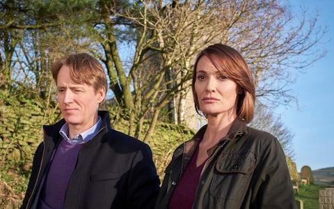 Linus Roache and Sarah Parish