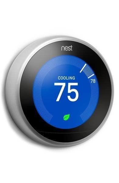 "This <a href=""https://shop.nordstrom.com/s/nest-learning-thermostat/4446857?origin=category-personalizedsort&fashioncolor=STAINLESS%20STEEL"" target=""_blank"">innovative thermostat</a> is proven to help you save 10 to 12 percent on heating bills and 15 percent on cooling bills."