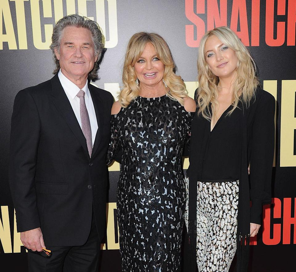 """<p><strong>Famous parent(s)</strong>: actors Goldie Hawn and Kurt Russell (he's not her biological father, but Kate considers him her dad) <br><strong>What it was like</strong>: """"There's a misconception that if you come from famous parents, you're seeking fame for the sake of fame,"""" she <a href=""""https://www.glamour.com/story/kate-hudson-spills-about-her-n"""" rel=""""nofollow noopener"""" target=""""_blank"""" data-ylk=""""slk:said"""" class=""""link rapid-noclick-resp"""">said</a>. """"I see it as the opposite: Growing up with parents who were in the spotlight—it was almost like, wow, if I didn't love to create characters, I would run as far away from fame as I could get. But I love performing.""""</p>"""