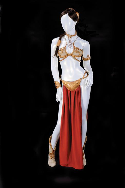 One of the most iconic — and uncomfortable — costumes in film history, this metal bikini that Carrie Fisher wore during the Jabba the Hutt palace scenes in 'Return of the Jedi' is expected to fetch $80,000-120,000. It comes with the original wax prototypes sculpted during pre-production, as well as paintings that show the evolution of the costume's design and the artists' notes and reference photos. (Profiles in History)