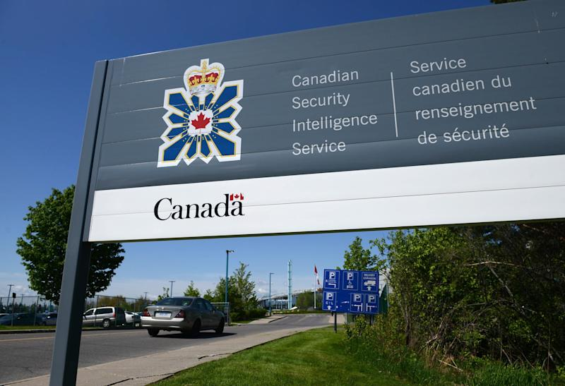 File photo of a sign for the Canadian Security Intelligence Service building in Ottawa on May 14, 2013. Its latest annual report, Canada's spy agency now considers gender-driven violence as a form of ideologically motivated violent extremism. (Photo: Sean Kilpatrick/CP)