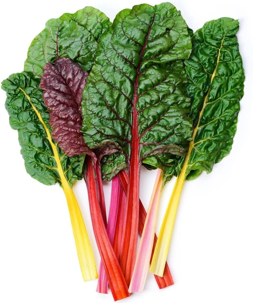 """<p>These <a href=""""https://www.popsugar.com/buy/Earthcare-Swiss-Chard-Seeds-571566?p_name=Earthcare%20Swiss%20Chard%20Seeds&retailer=amazon.com&pid=571566&price=4&evar1=casa%3Aus&evar9=46114279&evar98=https%3A%2F%2Fwww.popsugar.com%2Fhome%2Fphoto-gallery%2F46114279%2Fimage%2F47449689%2FEarthcare-Swiss-Chard-Seeds&prop13=api&pdata=1"""" class=""""link rapid-noclick-resp"""" rel=""""nofollow noopener"""" target=""""_blank"""" data-ylk=""""slk:Earthcare Swiss Chard Seeds"""">Earthcare Swiss Chard Seeds</a> ($4) grow into colorful leaves that taste great in soups and casseroles.</p>"""