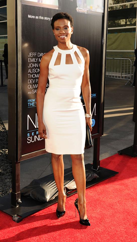 "Adina Porter arrives at the Los Angeles premiere of HBO's ""The Newsroom"" at ArcLight Cinemas Cinerama Dome on June 20, 2012 in Hollywood, California."