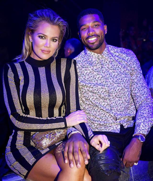 Khloé Kardashian and Tristan Thompson  <span>at LIV at Fontainebleau in Miami on Sept. 18, 2016. </span>(Photo:  <span>Seth Browarnik/startraksphoto.com)</span>