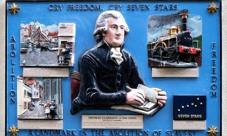 A plaque on the wall of the Seven Stars pub commemorates abolitionist Thomas Clarkson