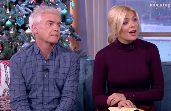 TV hosts Phillip and Holly clearly struggled with the idea of having ghostly lovers. Photo: ITV