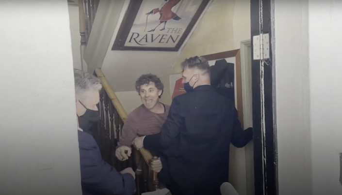 <p>'Get out of my pub, go on get out of my pub!'</p> (Evening Standard/YouTube)
