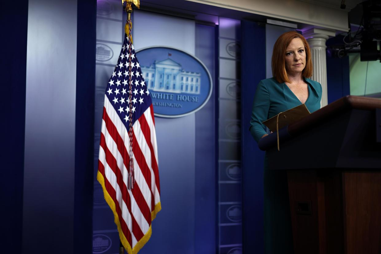 White House Press Secretary Jen Psaki listens during a daily briefing at the James Brady Press Briefing Room of the White House July 6, 2021 in Washington, DC. (Alex Wong/Getty Images)