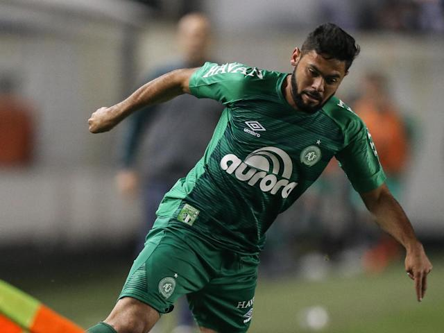 Lourency in action for Chapecoense against Santos: Getty