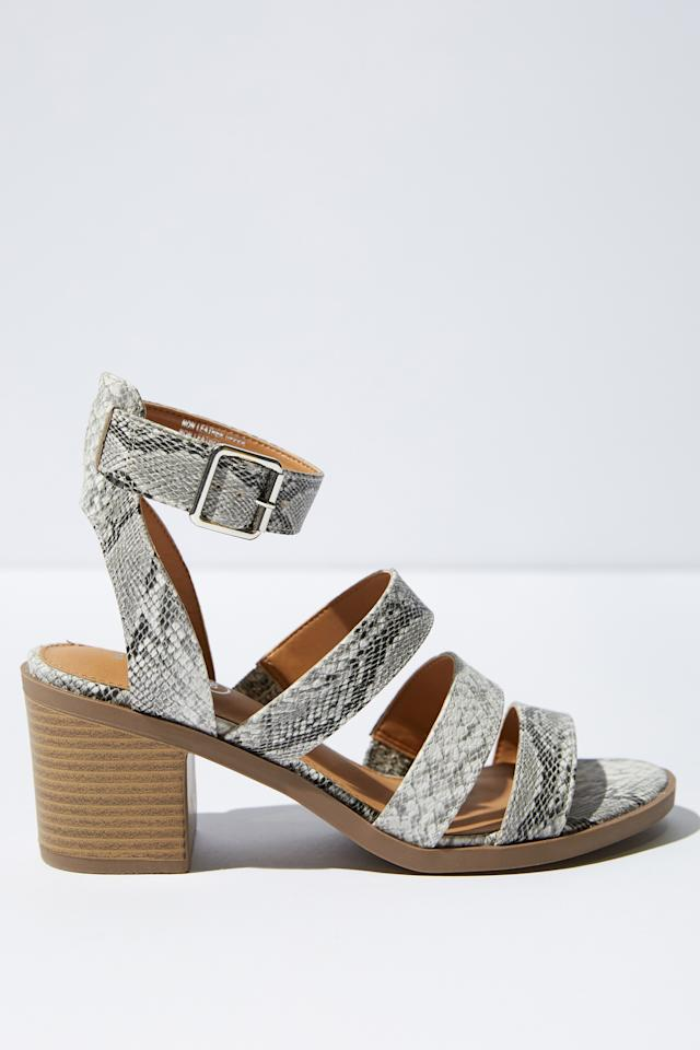 "<p><span>For when you want to wear heels but still be able to walk, there's block heels. These $49.99 </span><span><a rel=""nofollow"" href=""https://cottonon.com/AU/women/womens-shoes/"">Rubi</a> shoes will get you from A to B without the fear of snapping your ankles.</span> </p>"
