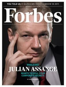 WikiLeaks Assange on Forbes cover