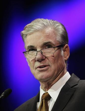 Superintendent of Public Instruction Tom Torlakson speaks at the 2014 California Democrats State Convention at the Los Angeles Convention Center