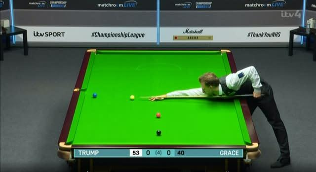 Judd Trump was the star attraction on day one in Milton Keynes (Screengrab from ITV4/PA)