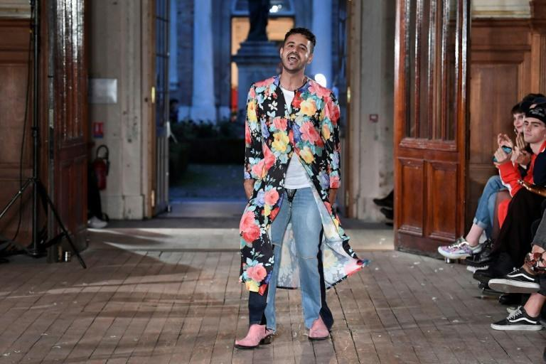 Brazilian designer Francisco Terra, 37, of French fashion brand Neith Nyer is holding one of the few live catwalk shows during men's fashion week in Paris but is doing it outside the official line-up and in his own style