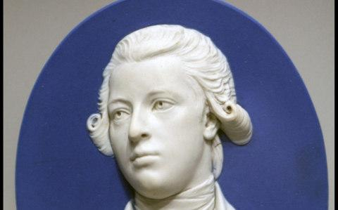 A portrait of William Pitt the Younger on display at the Wedgwood museum