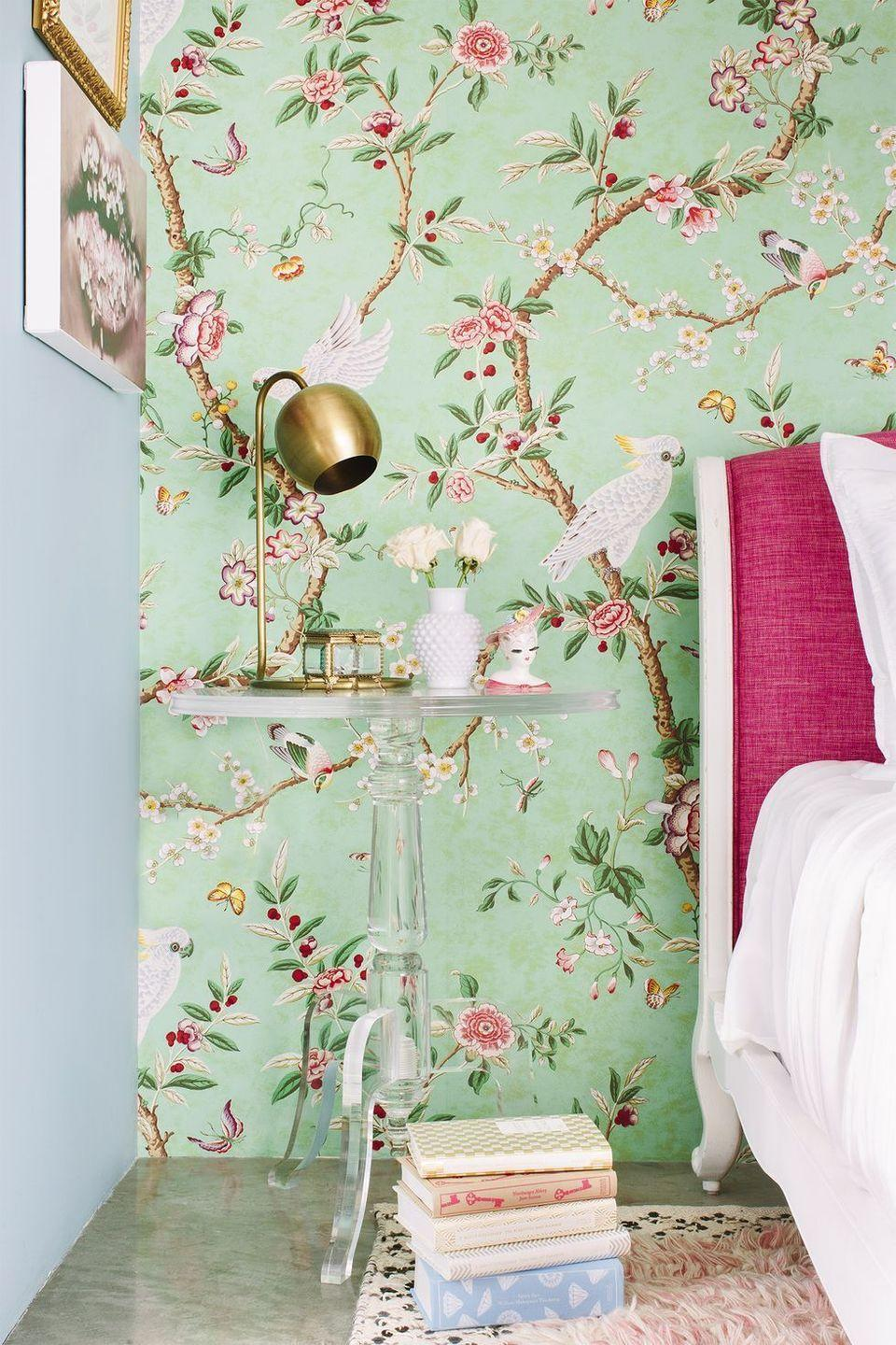 <p>Your bedroom should reflect your style. If you love nothing more than making a statement, an eye-catching floral wallpaper is for you. </p>