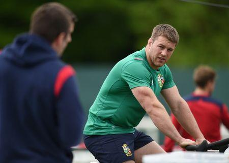 Rugby Union - British & Irish Lions Training & Press Conference - Carton House, Co. Kildare, Ireland - 22/5/17 British & Irish Lions Sean O'Brien during training Reuters  / Clodagh Kilcoyne Livepic