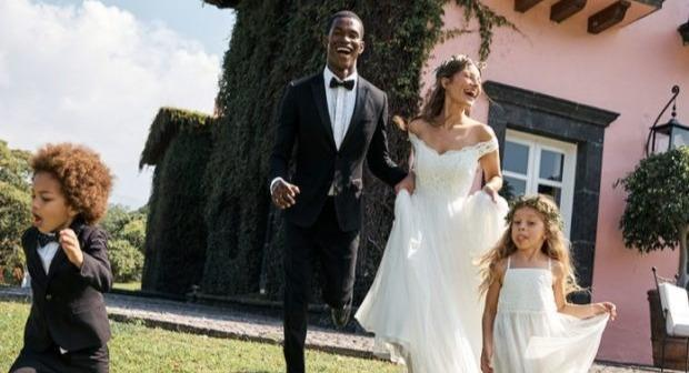 A bride has been mocked by 'good friends' for choosing to wear an H&M wedding dress she found in the retailer's sale (H&M campaign image)