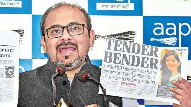 Speaking to the media, senior party leader and national spokesperson Dilip Pandey said the AAP had mentioned Aggarwal's role in influencing a tender bidding process in November last year.