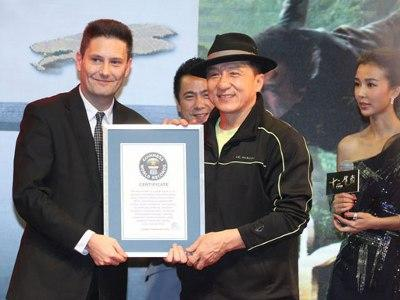 Jackie Chan breaks Guinness World Records