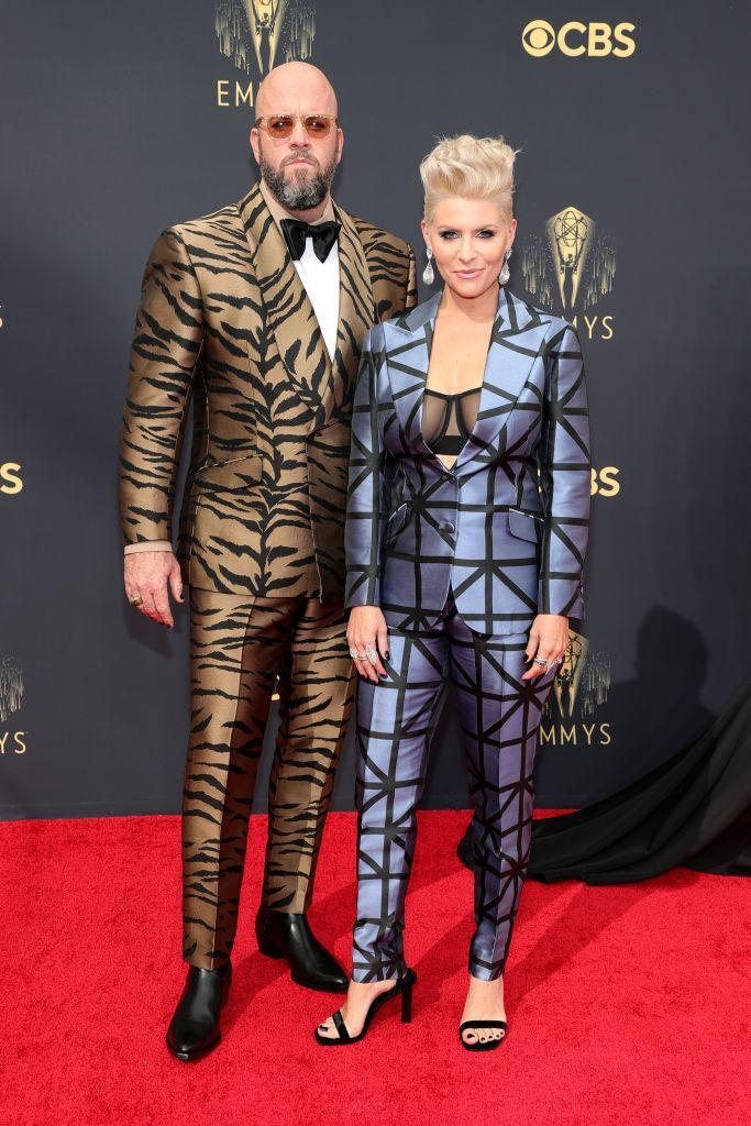 Chris Sullivan and his wife, Rachel Sullivan, attend the 73rd Primetime Emmy Awards on Sept. 19 at L.A. LIVE in Los Angeles.  (Rich Fury/Getty Images)