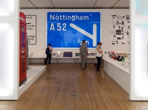 Iconic: Motorway signage features in the collection (Design Museum)