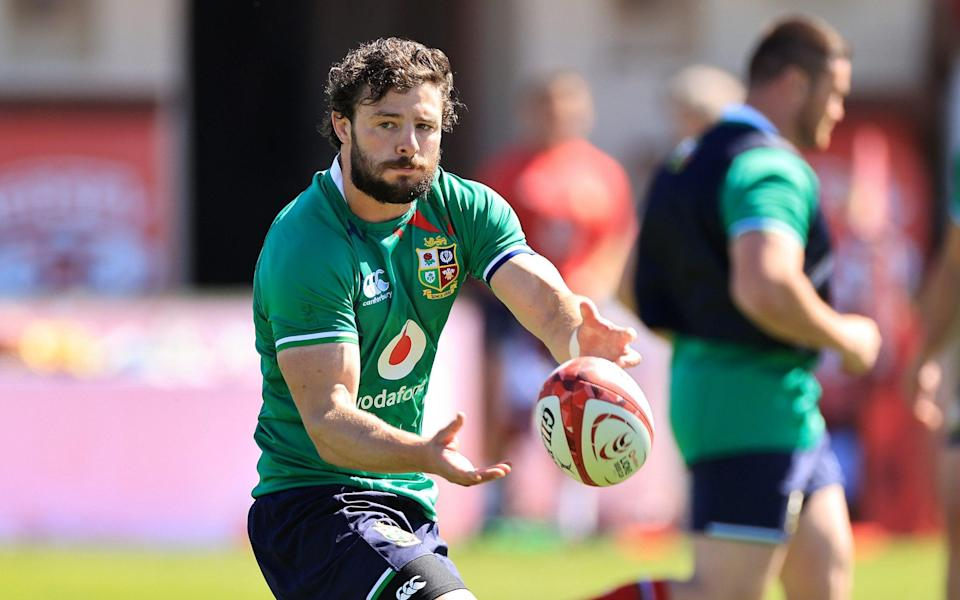 Robbie Henshaw training with the Lions - GETTY IMAGES