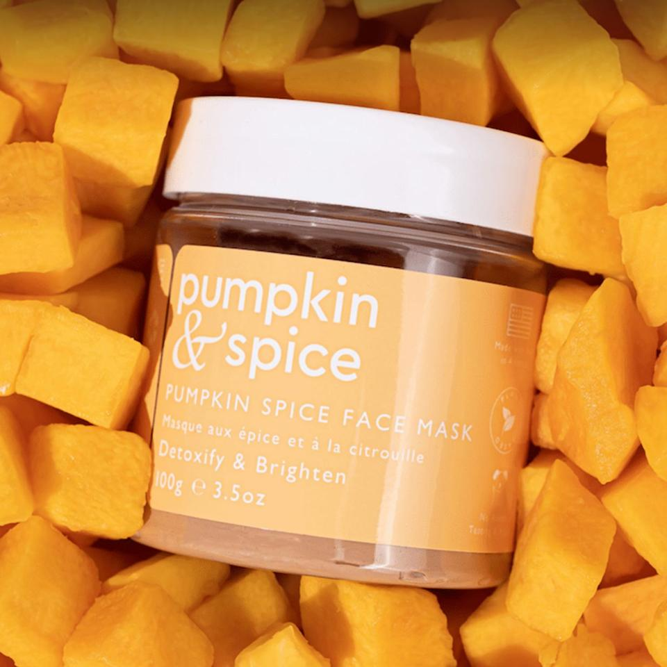 "Minimize breakouts, tighten pores and enjoy a heavenly pumpkin spice scent with this face mask that's packed with antioxidants, pumpkin seed and kaolin clay. <br /><br /><strong>Promising review:</strong> ""Love this mask! I have bought a bunch in the past from different companies and this one is by far the best. It has really helped my pores. I have horrible blackheads and this has really unclogged them and made my pores smaller. Will definitely be ordering again."" — <a href=""https://go.skimresources.com?id=38395X987171&xs=1&url=https%3A%2F%2Fgetpumpkinandspice.com%2Fproducts%2Fpumpkin-spice-face-mask&xcust=HPBeautyProducts6075ec5be4b0fcee71a35a6f"" target=""_blank"" rel=""nofollow noopener noreferrer"" data-skimlinks-tracking=""5735076