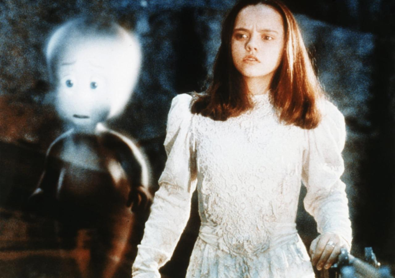"<p>While staying in the mansion of friendly ghost Casper with her father, Kat (<a class=""sugar-inline-link ga-track"" title=""Latest photos and news for Christina Ricci"" href=""https://www.popsugar.com/Christina-Ricci"" target=""_blank"" data-ga-category=""Related"" data-ga-label=""https://www.popsugar.com/Christina-Ricci"" data-ga-action=""&lt;-related-&gt; Links"">Christina Ricci</a>) throws a <a class=""sugar-inline-link ga-track"" title=""Latest photos and news for Halloween"" href=""https://www.popsugar.com/Halloween"" target=""_blank"" data-ga-category=""Related"" data-ga-label=""https://www.popsugar.com/Halloween"" data-ga-action=""&lt;-related-&gt; Links"">Halloween</a> party and dresses up in Victorian garb. </p>"