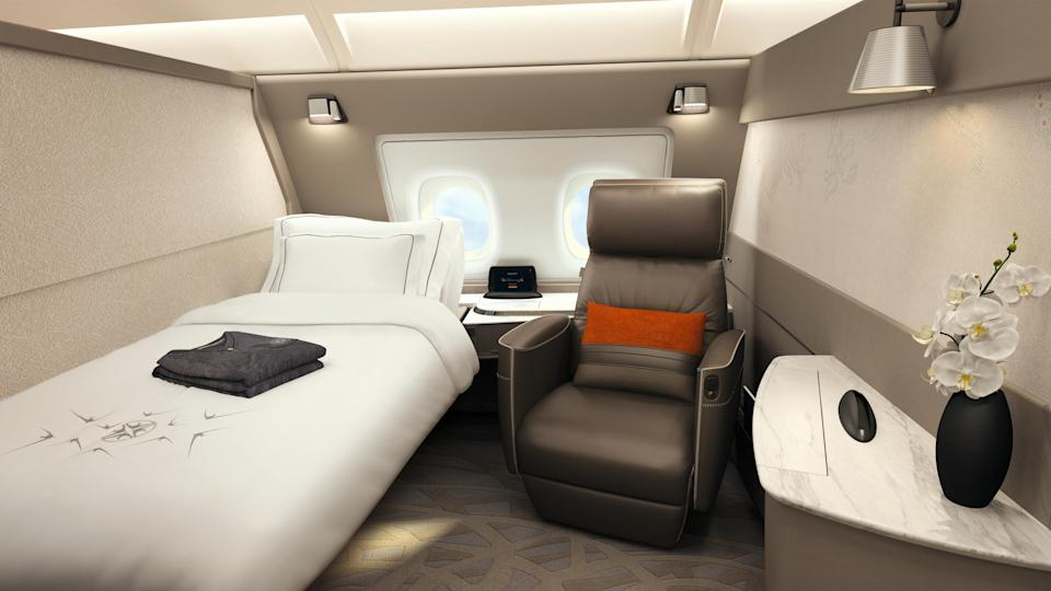 Singapore Airlines boasts suites on its new A380 aircraft, including double and single beds [Photo: Singapore Airlines]