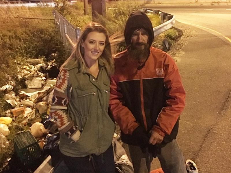 Kate McClure said she has been visiting Johnny regularly since he helped her: GoFundMe