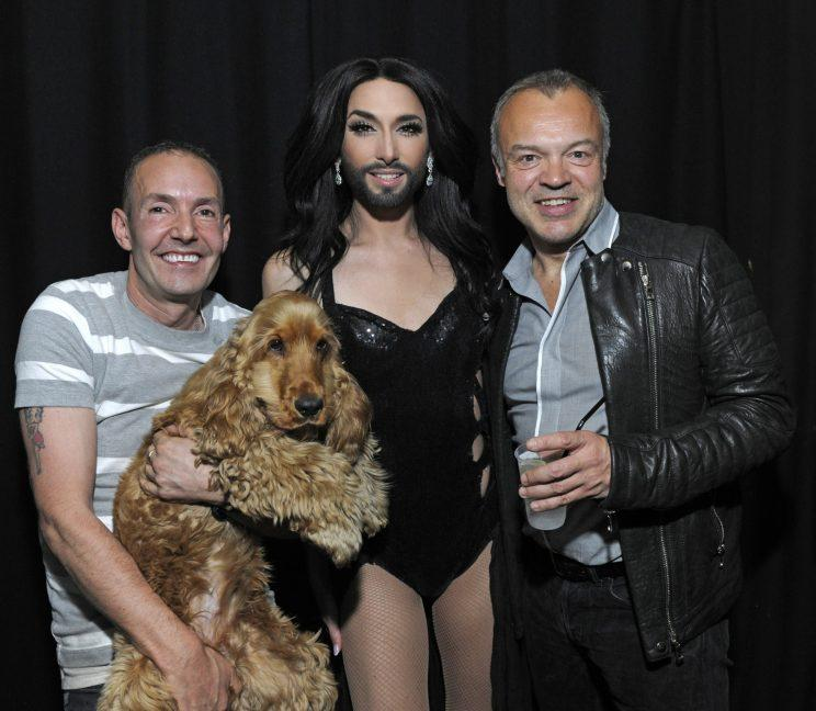 Eurovision Song Contest 2014 winner Conchita Wurst poses backstage at G-A-Y ahead of her performance at the club Chris Jepson/WENN.com