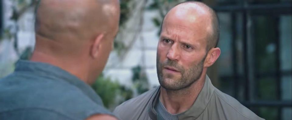 """Jason Statham as Deckard Shaw in """"The Fate of the Furious."""""""