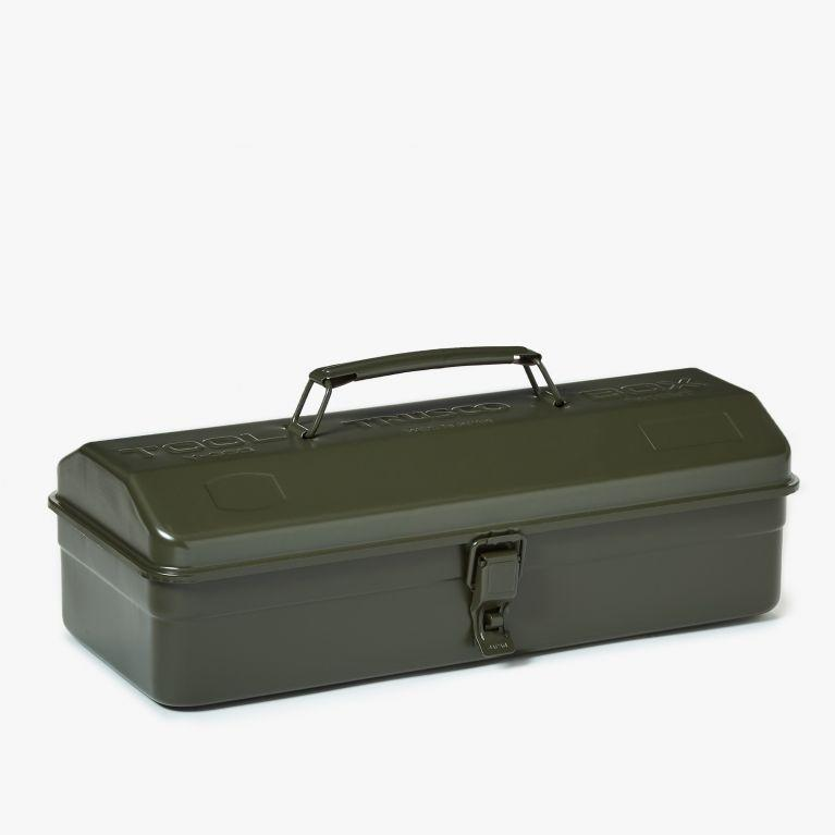 """And finally, the classic toolbox (in a lovely olive green).<br><br><strong>Trusco</strong> Hip Roof Toolbox in Olive, $, available at <a href=""""https://www.conranshop.co.uk/trusco-hip-roof-tool-box-olive.html"""" rel=""""nofollow noopener"""" target=""""_blank"""" data-ylk=""""slk:The Conran Shop"""" class=""""link rapid-noclick-resp"""">The Conran Shop</a>"""