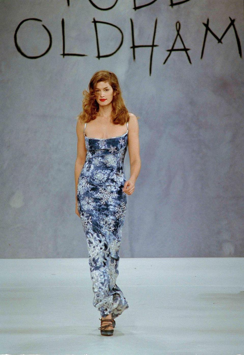 <p>More than most, Crawford'a renown in the '90s superseded the industry. She was—and still is—a cultural icon, starring in not just myriad fashion campaigns, but also in Pepsi commercials. Her appearance on the small screen, too, extended to hosting <em>House of Style</em> on MTV. With her distinct beauty mark, her face was plastered on billboards and advertisements. And now, her daughter, Kaia Gerber, is following in her famous footsteps. </p>