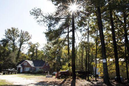 The home of Brent Nicholson, where police officers confiscated thousands of guns, is pictured in Pageland, South Carolina, November 10, 2015. REUTERS/Jason Miczek