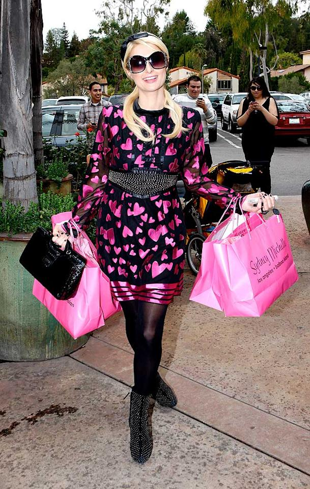 """Dear Paris, it's time for a new signature color. Your pretty in pink phase is so 2006. ICE/<a href=""""http://www.x17online.com"""" target=""""new"""">X17 Online</a> - February 23, 2010"""