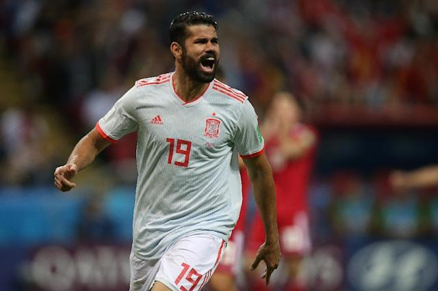 Diego Costa scored Spain's only goal (AFP Photo/Roman Kruchinin)