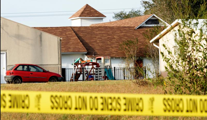 The playground at the First Baptist Church of Sutherland Springs.  (Rick Wilking / Reuters)