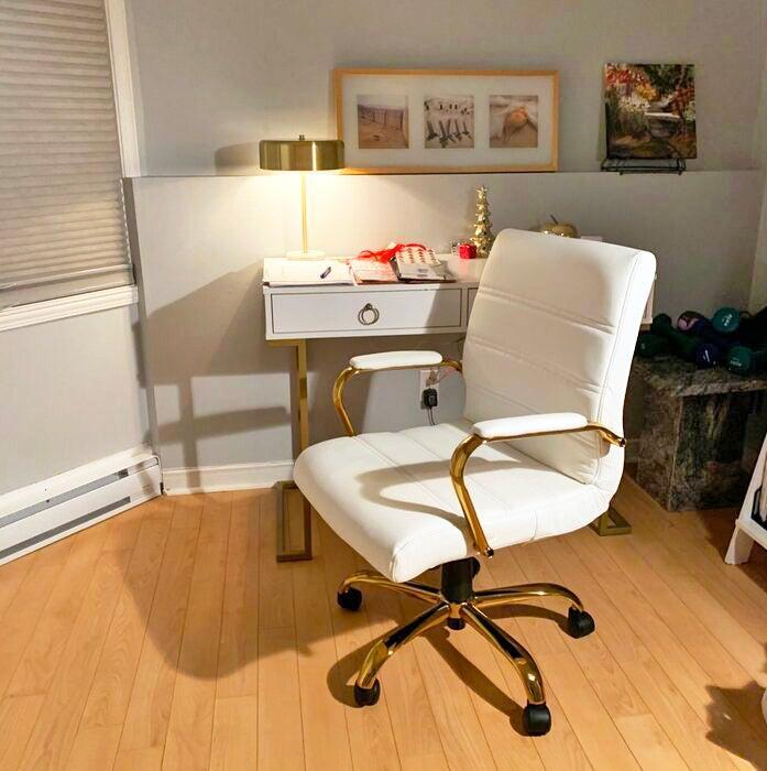 """<h2>Upper Square Leaman Ergonomic Executive Chair</h2><br>The ergonomics in this chair can be found in its foam-filled seat that's padded for extra lumbar-support, sturdy steel frame, and a base with customizable tilt-lock capabilities. Customers back it for WFH comfort, posture improvement, and an overall beautiful aesthetic quality.<br><br><strong>4.6 out of 5 stars and 4,541 reviews</strong><br>""""I was a little wary of purchasing an office chair online but I needed one that would be very comfortable for long days in the home office. After reading the reviews, I went with this one and have not been disappointed. The seat is very comfortable and has good back support. The chair is modern-looking and perfect for a home office. I like the rollers on the bottom that seems nice and sturdy. It is easy to adjust the height and overall I am very happy with this chair."""" <em>– Wayfair Reviewer</em><br><br><em>Shop <strong><a href=""""https://www.wayfair.com/furniture/pdp/upper-square-leaman-ergonomic-executive-chair-w001718526.html"""" rel=""""nofollow noopener"""" target=""""_blank"""" data-ylk=""""slk:Wayfair"""" class=""""link rapid-noclick-resp"""">Wayfair</a></strong></em><br><br><strong>upper square</strong> Leaman Ergonomic Executive Chair, $, available at <a href=""""https://go.skimresources.com/?id=30283X879131&url=https%3A%2F%2Fwww.wayfair.com%2Ffurniture%2Fpdp%2Fupper-square-leaman-ergonomic-executive-chair-w001718526.html"""" rel=""""nofollow noopener"""" target=""""_blank"""" data-ylk=""""slk:Wayfair"""" class=""""link rapid-noclick-resp"""">Wayfair</a>"""